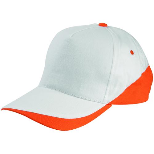 beyaz-turuncu-parçalı-şapka
