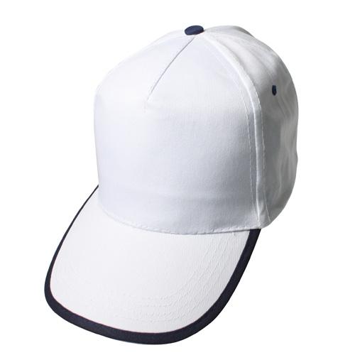 beyaz-lacivert-biyeli-şapka