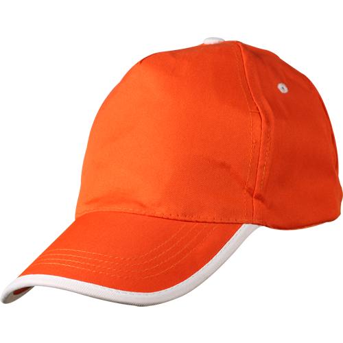 turuncu-beyaz-biyeli-şapka