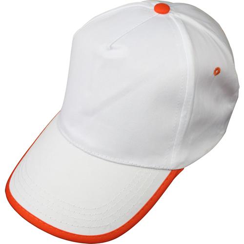 beyaz-turuncu-biyeli-şapka