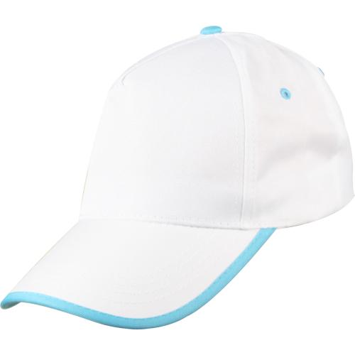 beyaz-turkuaz-biyeli-şapka
